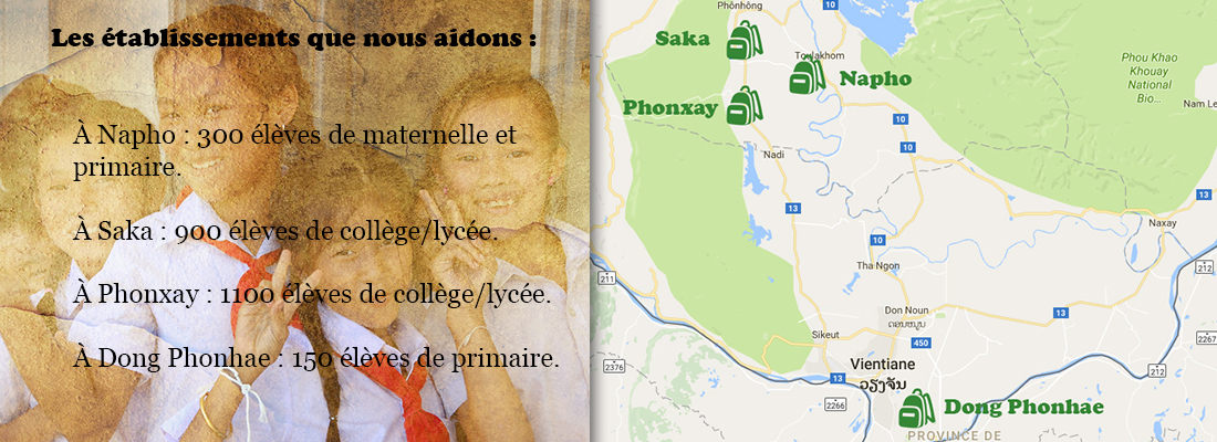 Carte sites d'actions